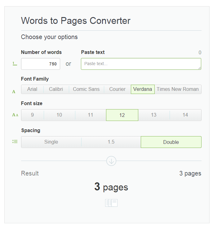 Words to Pages Converter from Essayhave